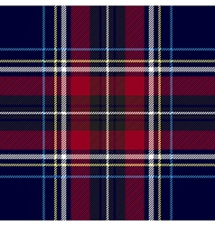 Blue red check plaid texture seamless pattern vector image