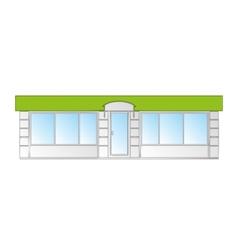 Building facade vector
