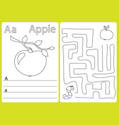 Alphabet a-z - puzzle worksheet exercises for vector