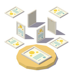 Isometric diploma in the frame vector