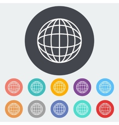 Simple World globe 2 vector image