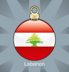 Lebanon flag on bulb vector image