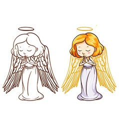 Two sketches of an angel vector