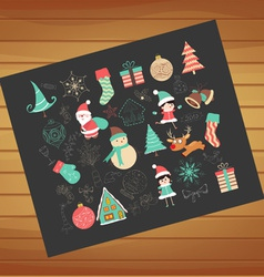 Winter joy decoration vector