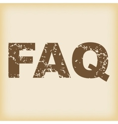 Grungy faq icon vector