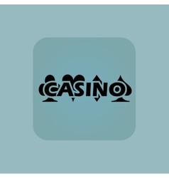 Pale blue casino icon vector