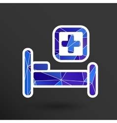 Hospital bed and cross icon doctor health vector