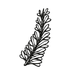 Doodling hand drawn feather in tattoo style vector