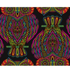 Colorful seamless pattern with hand drawn ornate vector