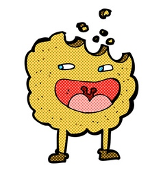 Cookie comic cartoon character vector