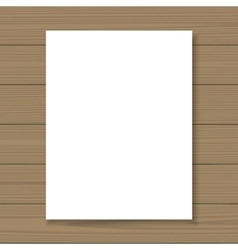 Blank paper flyer mock up vector