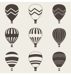 Colorful air balloon on white background vector