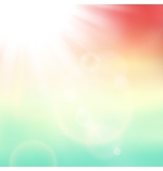 Abstract background with summer sun and vector