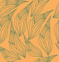 Seamless pattern with abstract leaves vector