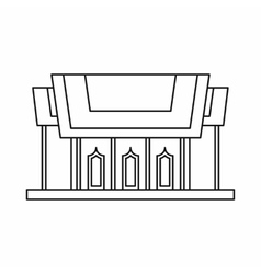 Thailand temple icon outline style vector