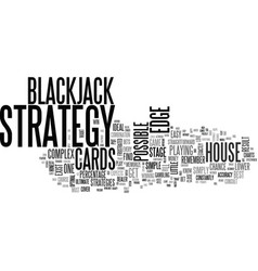 A simple stage blackjack strategy text word cloud vector