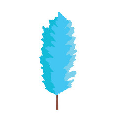beautiful winter tree vector image vector image