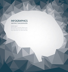 Brain shape abstract background vector