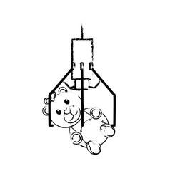 Claw machine design vector