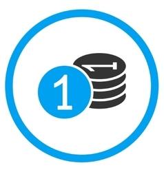Coins flat icon vector