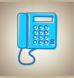 communication or phone sign sky blue icon vector image