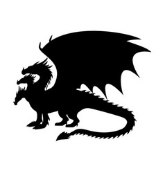 Dragon fantastic silhouette symbol mythology vector