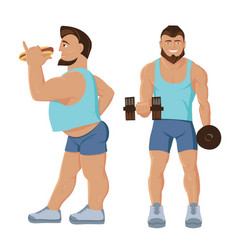 fitness characters set vector image vector image