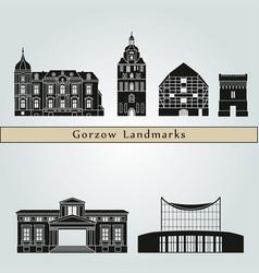 gorzow wlkp landmarks vector image vector image