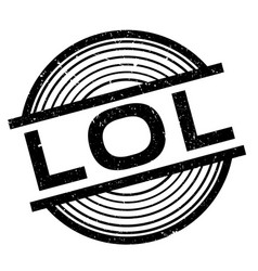 Lol rubber stamp vector