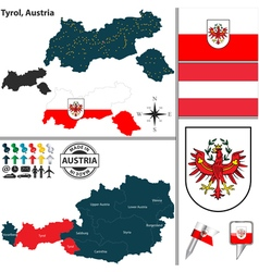 Map of Tyrol vector image