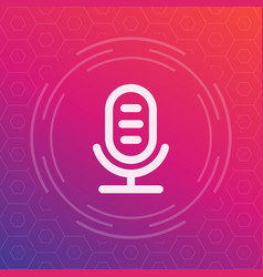 microphone speech recognition linear icon vector image