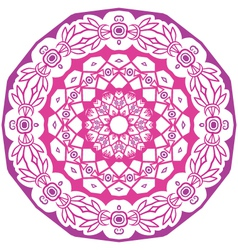 native round ornament vector image vector image