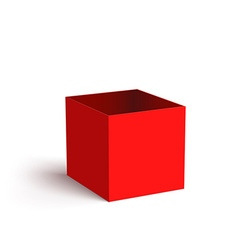 Open Red Box Isolated on White Background vector image