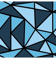 Pattern with blue triangle vector