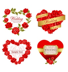 Roses frames vector image vector image