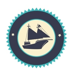 sailboat travel isolated icon vector image vector image
