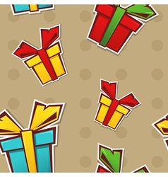 Seamless repeating pattern with colorful gift vector image