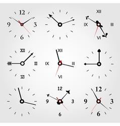 set of dials vector image