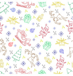 sketchy seamless pattern hand drawn doodle vector image