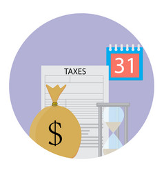 tax icon flat vector image vector image