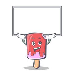 Up board ice cream character cartoon vector