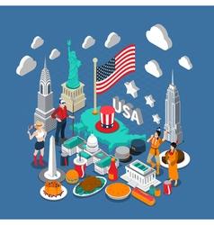USA Concept Composition vector image vector image