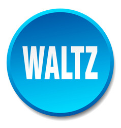 Waltz blue round flat isolated push button vector