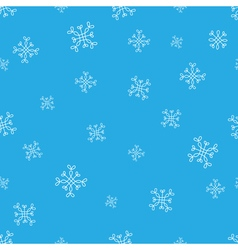 Snowflakes blue seamless pattern snow christmas vector
