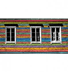 three windows vector image