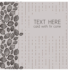 pattern with fir cone border vector image