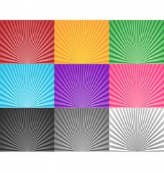 Multicoloured sunbursts vector