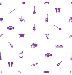 Musical instruments pattern eps10 vector