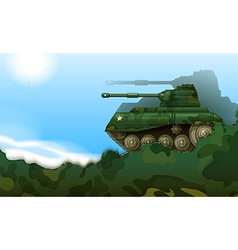 A fighting tank vector