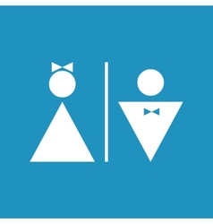 Male and female icon denoting toilet  restroom vector